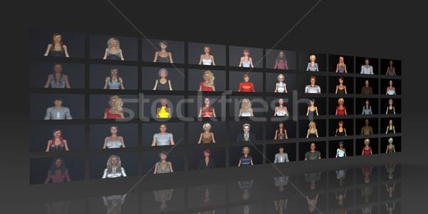 Crowdsourcing ağ kullanıcılar web takım iletişim Stok fotoğraf © kentoh