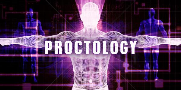 Digitális technológia orvosi művészet férfi technológia háttér Stock fotó © kentoh