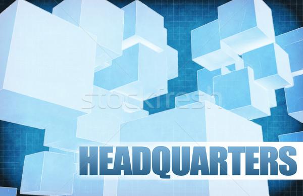 Headquarters on Futuristic Abstract Stock photo © kentoh