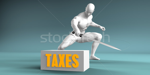 Cutting Taxes Stock photo © kentoh