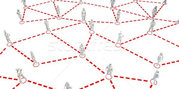 Gente de negocios red junto negocios mujer mujeres Foto stock © kentoh