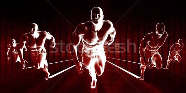 Sterkte fitness team opleiding lichaam gezondheid Stockfoto © kentoh