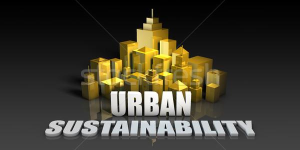 Városi fenntarthatóság ipar üzlet épületek háttér Stock fotó © kentoh