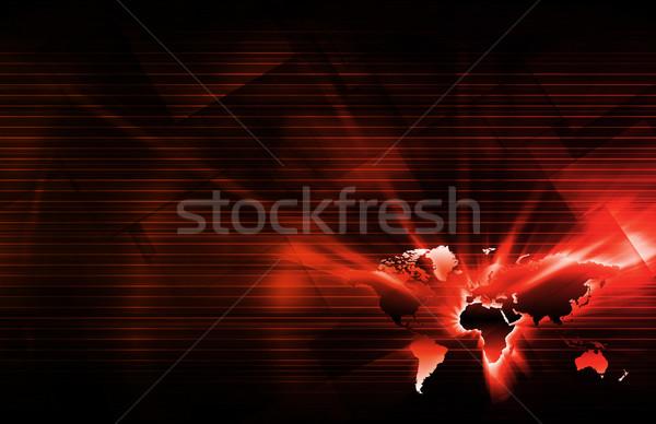 Lokalizacja usług komórkowych sieci tle zakupy Zdjęcia stock © kentoh