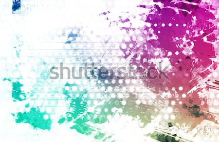 Artistic Grunge Splatter Stock photo © kentoh