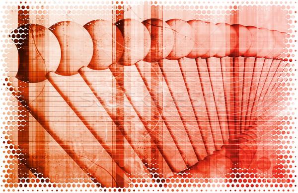 ビジネス 遺伝学 DNA鑑定を 研究 建設 技術 ストックフォト © kentoh