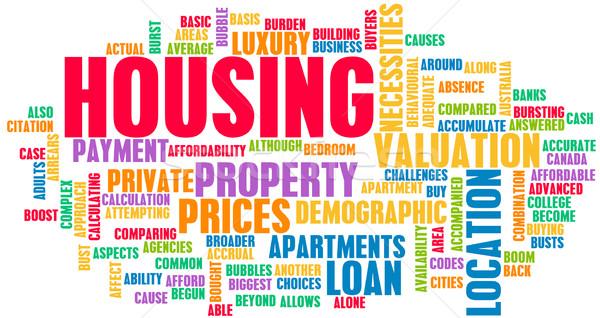 Alloggiamento mercato immobiliare pianificazione acquisto mercato informazioni Foto d'archivio © kentoh
