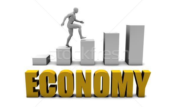 Economía negocios proceso empresarial oro Foto stock © kentoh