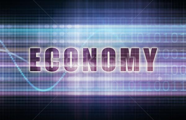 Economía tecnología negocios tabla arte resumen Foto stock © kentoh