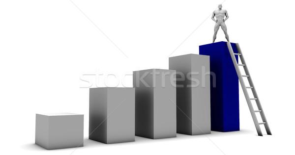 Pessoal alvo sucesso trabalhador futuro Foto stock © kentoh