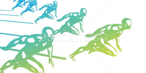 Excelência homens perfeição arte corrida raça Foto stock © kentoh