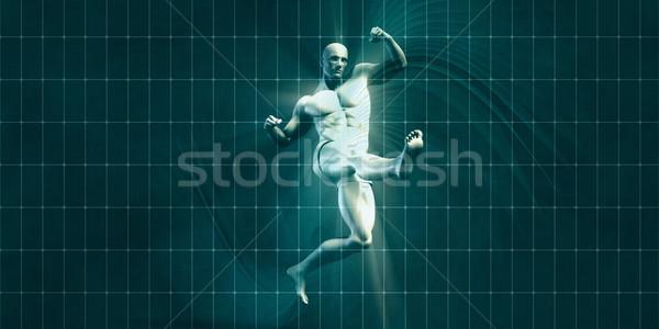 訓練 モチベーション 霊感 芸術 フィットネス 背景 ストックフォト © kentoh