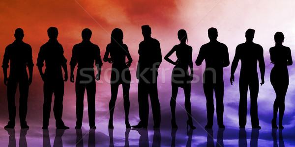 Iş adamları başarı başarı iş kadın erkekler Stok fotoğraf © kentoh