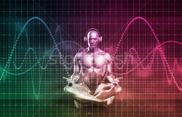 Foto stock: Música · zen · sonido · ecualizador · arte · hombre
