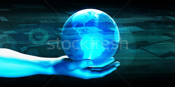 B2b business computer ontwerp aarde web Stockfoto © kentoh