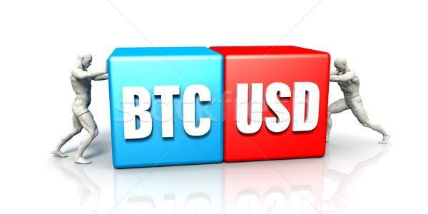 BTC USD Currency Pair Stock photo © kentoh