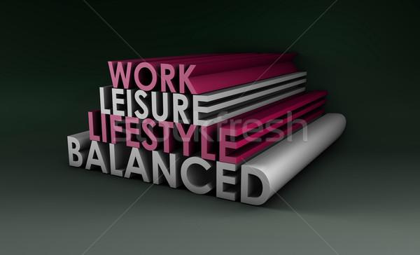 сбалансированный жизни аннотация 3D здоровья рабочих Сток-фото © kentoh
