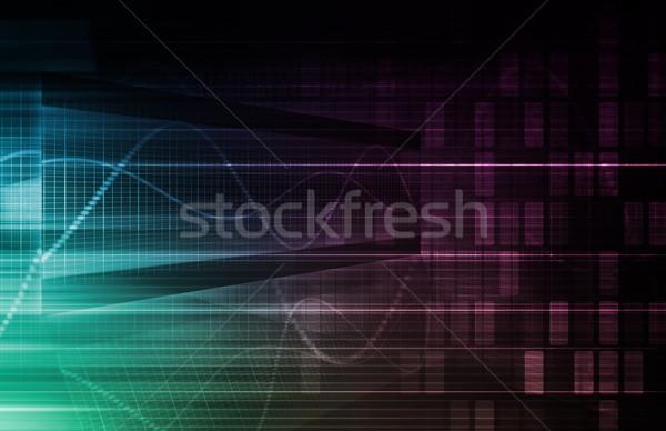 Statisztika elemzés adat absztrakt háttér háló Stock fotó © kentoh