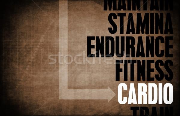 Cardio núcleo princípios negócio fitness retro Foto stock © kentoh