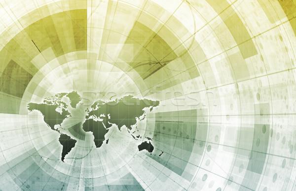 Mühendislik fütüristik sanat teknoloji ağ web Stok fotoğraf © kentoh