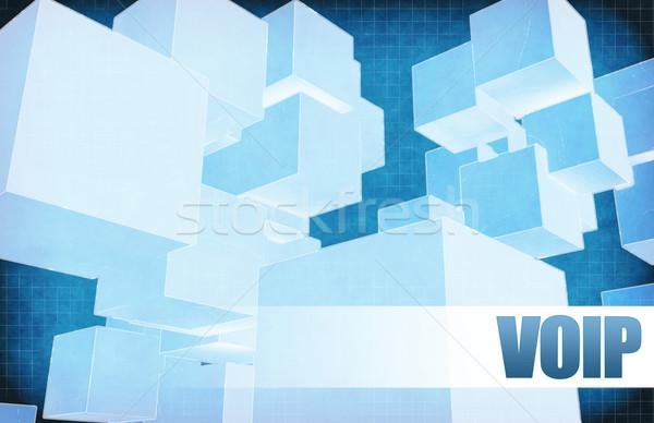 Voip futuristico abstract presentazione slide design Foto d'archivio © kentoh