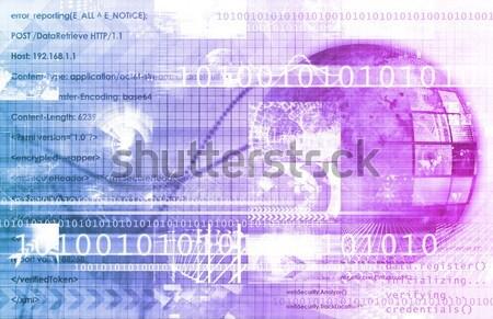 Digital rede negócio exigência arte internet Foto stock © kentoh