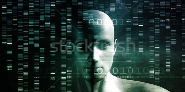 Genético teste análise químico dna moderno Foto stock © kentoh