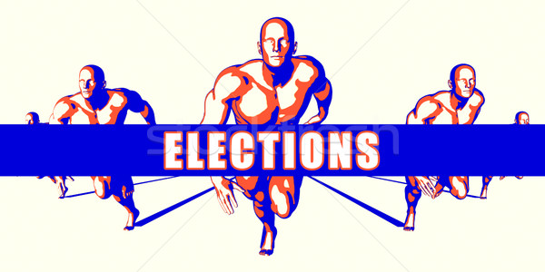 Seçimler rekabet örnek sanat arka plan turuncu Stok fotoğraf © kentoh