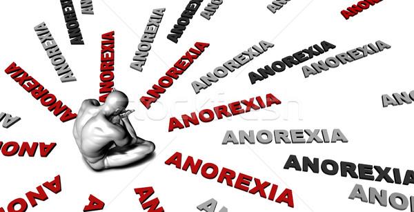 анорексия страдание жертва плачу мужчины человека Сток-фото © kentoh