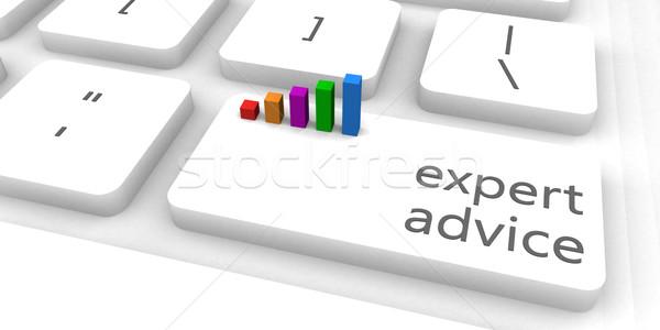 Expert conseil rapide facile site internet Photo stock © kentoh