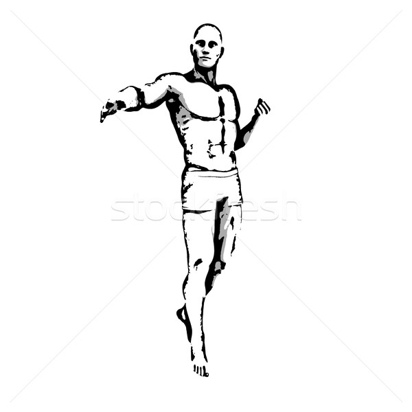 герой создают эскиз чернила иллюстрация Сток-фото © kentoh