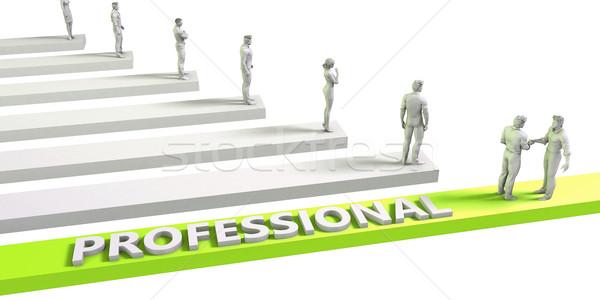 Profi gondolkodásmód sikeres üzlet férfi üzletember Stock fotó © kentoh