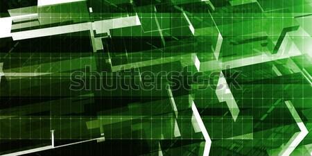 Ordenador ingeniería diseno desarrollo investigación red Foto stock © kentoh