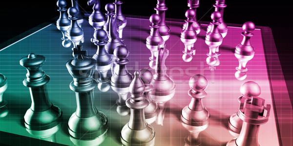 Gestión estrategia negocios la toma de decisiones proceso fondo Foto stock © kentoh