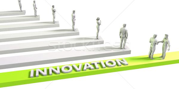 Innovation Denkweise erfolgreich Business Mann Geschäftsmann Stock foto © kentoh