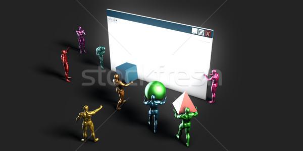 Foto stock: Web · design · serviços · negócio · site · desenvolvimento · teia