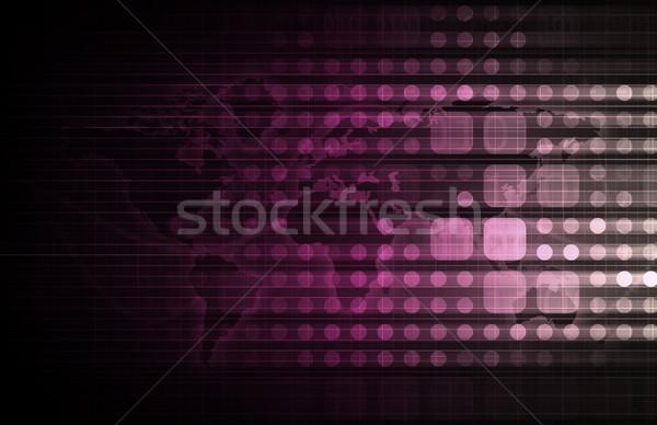 Cms technologii zawartość zarządzania komputera tle Zdjęcia stock © kentoh