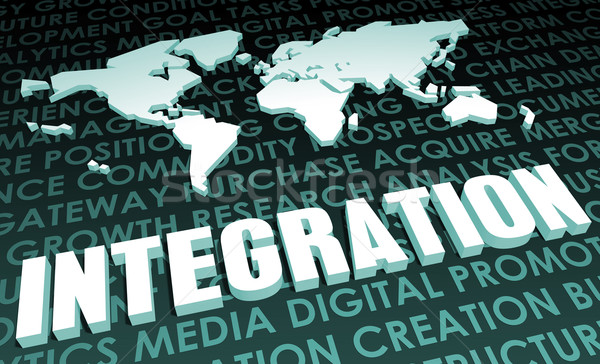 Integración industria global estándar 3D mapa Foto stock © kentoh