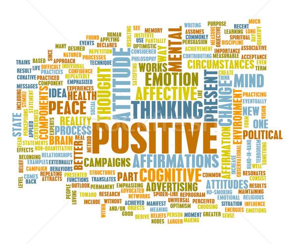 Stock fotó: Gondolkodik · pozitív · hozzáállás · absztrakt · jókedv · gondolkodik