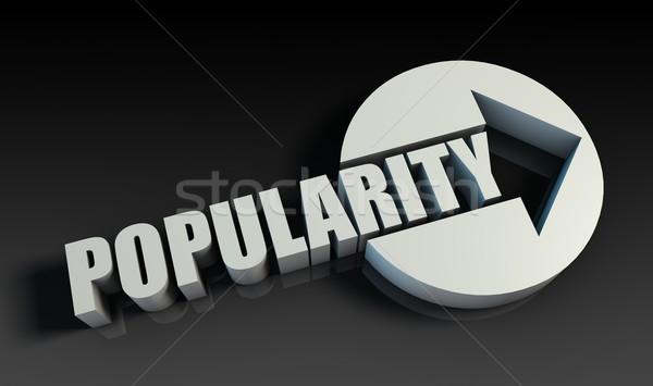 Popülerlik ok iş anahtar grafik tanıtım Stok fotoğraf © kentoh