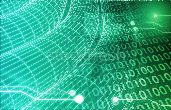 Háló informatika művészet jövő üzlet internet Stock fotó © kentoh