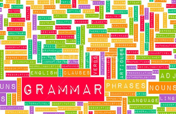 Grammatica leren beter Engels kunst schrijven Stockfoto © kentoh