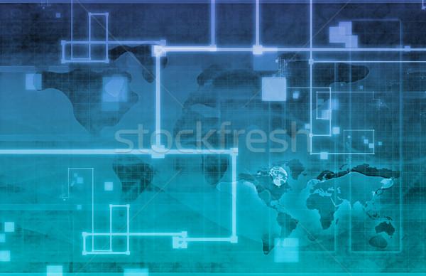 Inwigilacja bezpieczeństwa technologii globalny sztuki Internetu Zdjęcia stock © kentoh