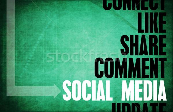 Social media kern principes business retro digitale Stockfoto © kentoh