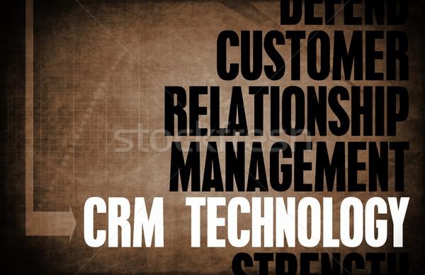 Crm technológia mag elvek üzlet retro Stock fotó © kentoh
