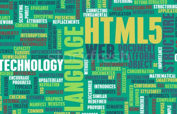 Html háló fejlesztés nyelv hálózat tech Stock fotó © kentoh