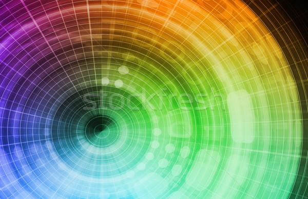 Mercado de ações análise moeda troca arte tecnologia Foto stock © kentoh