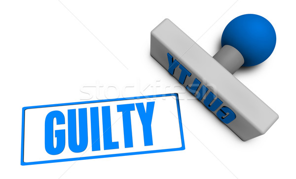 Guilty Stamp Stock photo © kentoh