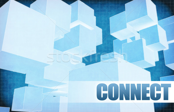 Connect on Futuristic Abstract Stock photo © kentoh