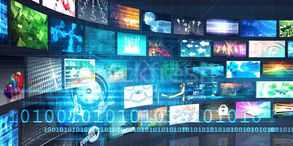 Cyfrowe multimedialnych rozrywki Internetu działalności telewizji Zdjęcia stock © kentoh